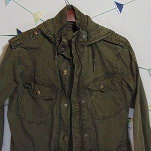 Aritzia Jackets & Coats - Talula Troopers Army Twill Utility Olive Jacket